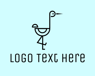 Logistics - Modern Stork logo design