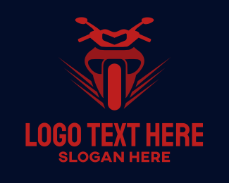 Red - Red Motorcycle logo design