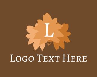 Autumn - Autumn Leaves Letter logo design
