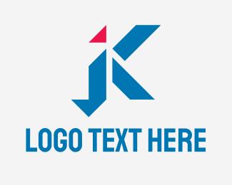 """Geometric Letter K Startup"" by RistaDesign"