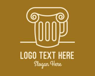 Alcohol - Beer Mug Pillar logo design
