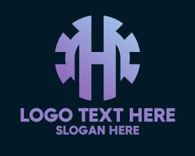 Automation - Industrial Letter H logo design