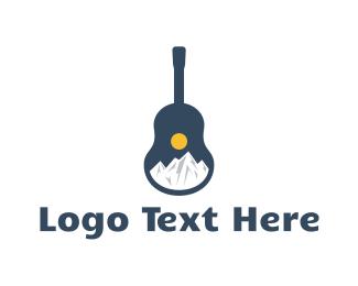 Composer - Icy Mountain Guitar logo design