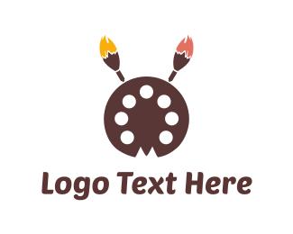 Palette - Paint Palette logo design