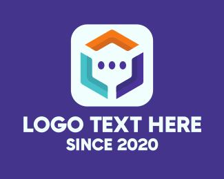 Communication - Communication Mobile App logo design