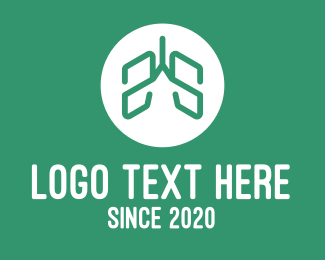 Oxygen - Green Abstract Respiratory Lungs  logo design