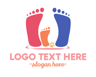 Footprint - Family Steps logo design