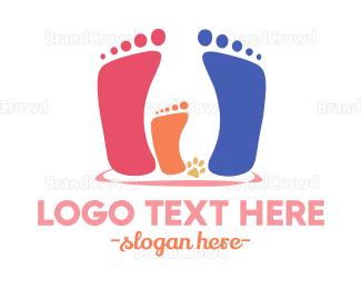 Dad - Family Steps logo design