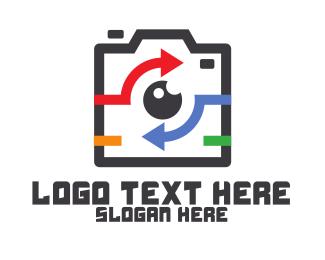 Blog - Instagram Arrow Camera logo design