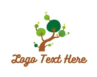 Bonsai - Tree Branches logo design