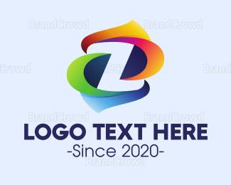 Lettermark Z - Colorful Letter Z logo design