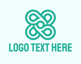 App - Green Abstract Shape logo design
