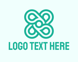 Dental - Green Abstract Shape logo design