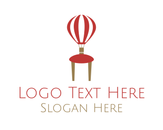 Red Chair - Balloon Furniture logo design