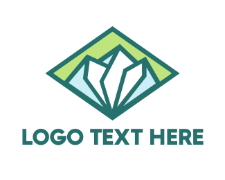 Green Mountain - Diamond Green Mountain logo design