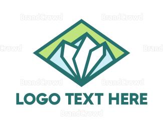Resort - Diamond Green Mountain logo design
