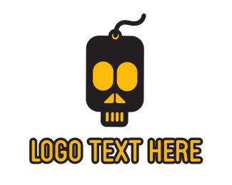 Flash Drive - Skull Drive logo design