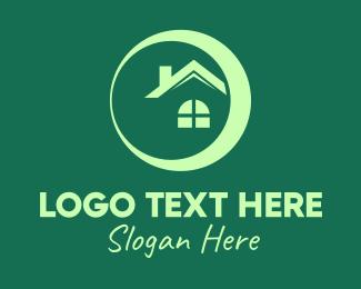 Chimney - Modern Circle House logo design