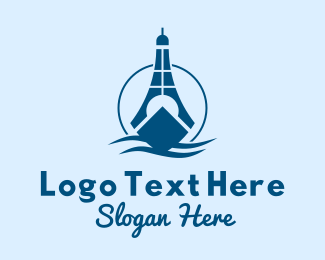 Destroyer - Sea Lighthouse Ship logo design