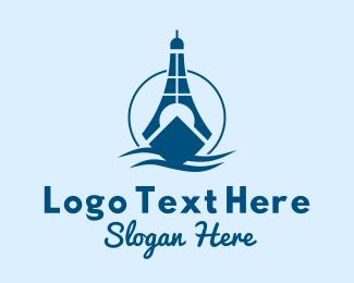 Frigate - Sea Lighthouse Ship logo design