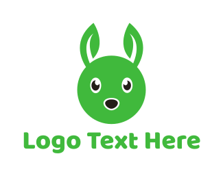Green Rabbit - Green Rabbit Leaf logo design