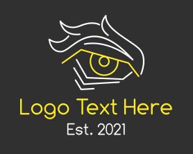 Gaming - Intense Eye Outline logo design