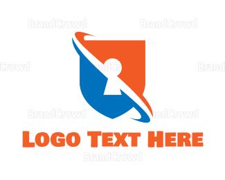 Firewall - Security Shield logo design