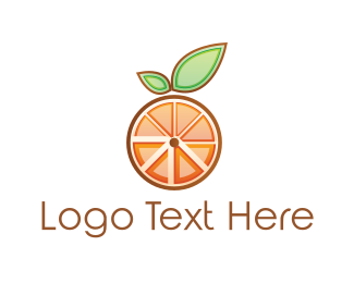 Slice - Orange Slices logo design