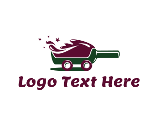 Alcohol - Red Wine Delivery logo design