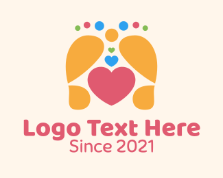 Leg - Foot Massage Heart logo design