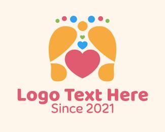 Massage - Foot Massage Heart logo design