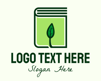 Book Club - Eco Leaf Book logo design