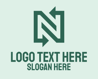 Trader - Simple Arrow Letter N  logo design