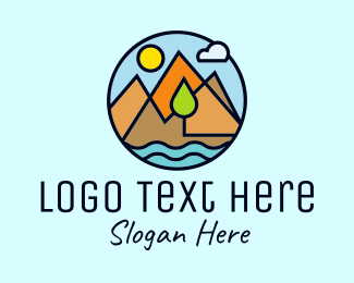 Mountain Climbing - Mountain Nature Adventure logo design