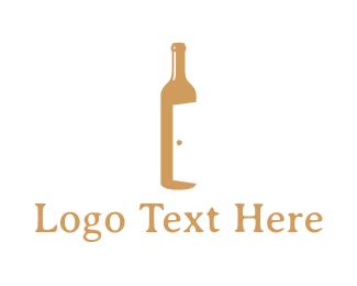 Open - Bar Door logo design