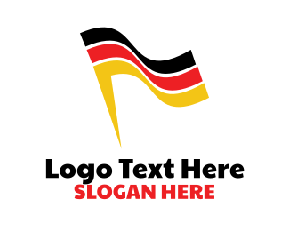 German - Abstract German Flag logo design