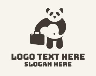 Boss - Panda Briefcase logo design