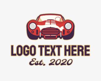 Car Racing - Red Auto Sports Car logo design