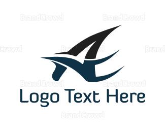 Act - Bird Letter A logo design