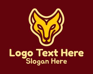 Tigress - Monoline Lioness Mascot logo design