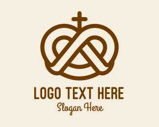 Holy Cross - Pretzel Cross Bakery logo design