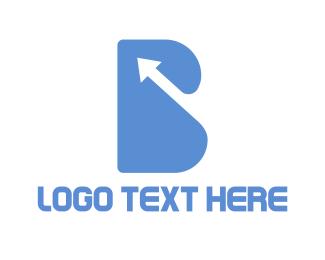 Up - Arrow Letter B logo design