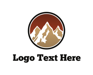 White And Brown - Brown Mountains logo design