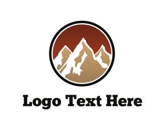 Hiking - Brown Mountains logo design