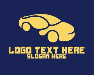 Curve - Curvy Yellow Car logo design