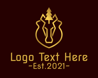 Outdoor Gear - Deluxe Bear Campsite logo design