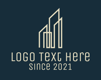 Construction - Pointy Skyscrapers Real Estate logo design