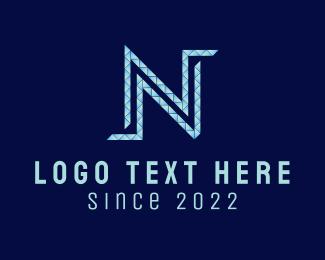 Letter N - Diamond Letter N logo design