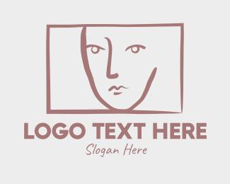 Art - Portrait Art Face Painting logo design