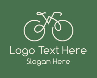 Green Bicycle Bike Logo